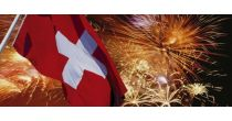 Swiss National Day celebrations - market and party.