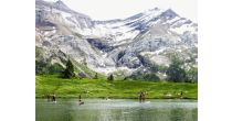 Seeidylle mit Gletscherblick
