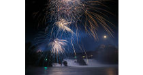 Giant Firework display, at the Rhine Falls