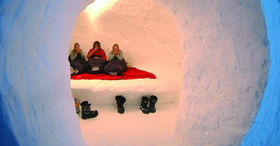 Spend the night in an igloo