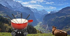 Lauberhorn fondue meal