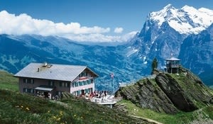 On the hike up the Mannlichen. Photo from Swiss Tourism